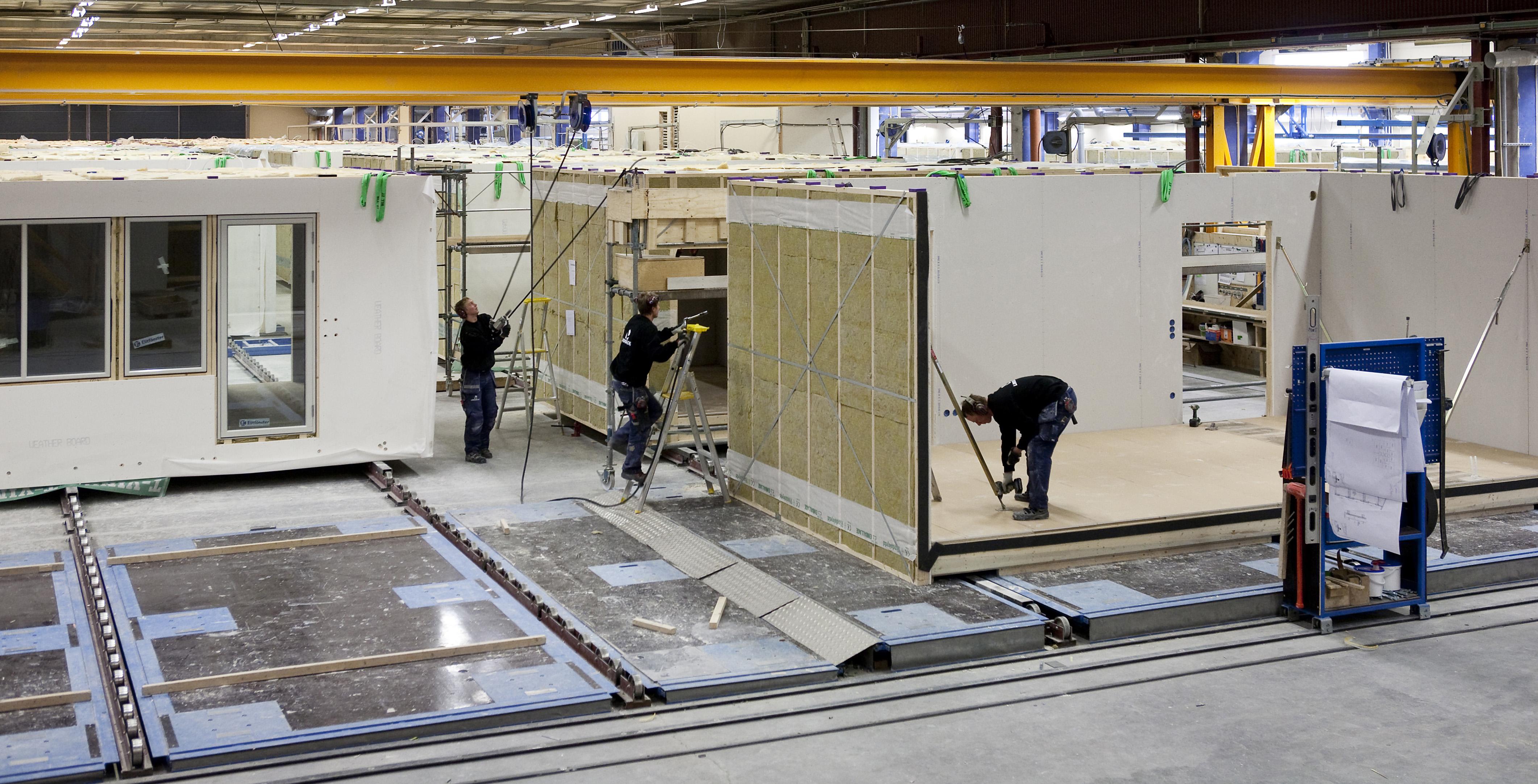 Industriell produktion i Lindbäcks fabrik.